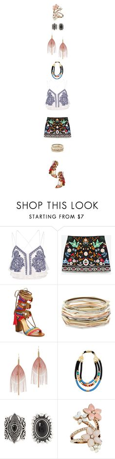 """Something Just Like This"" by hanelle ❤ liked on Polyvore featuring River Island, Schutz, Kendra Scott, Serefina, New Look and Accessorize"