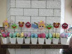 Muppets babies.  These could go on top of diapers as table center pieces