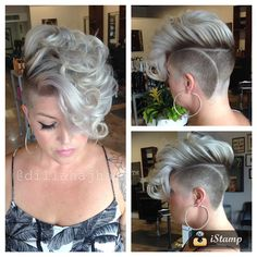 Bad ass Beth let me play today!! And shout out to @davidthomasla and @juliuscaesar for the inspiration on the #hilofade! #hair #haircut #hairstyle #shorthair #shorthaircut #shaved #shavedside #undercut #platinum #blonde #thisismyart #thestandardhairstudio #imakehotgirlshotter