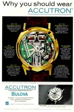 Vintage Accutron ad. Accutron is mentioned at the beginning of S7. #MadMen