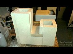 #323 Rocket Stove J-tube construction wood burning