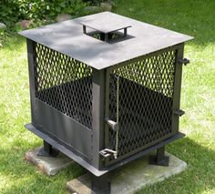 Scott Wright of Vineland, Ontario, Canada uses Lincoln Electric's AC-225 stick welder to fabricate a backyard stove.
