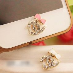 bling bow iPhone Home Button Sticker for Apple by iphone5scase, $3.99