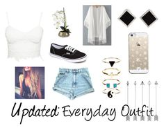 """""""UPDATED: Everyday Outfit"""" by gabriella-1072 ❤ liked on Polyvore featuring Yvel, Casetify, Vans and Accessorize"""