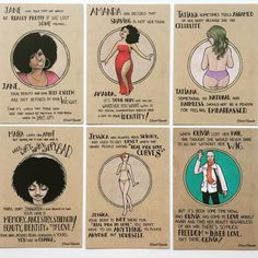By carolrossetti88: Some of the girls featured in the Body Collection one of the postcards kits available at my online store (link on account description)! #bodypositivity #women #postcards #noshave #feminism #innerlove #illustration #feministillustration