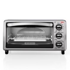 BLACK DECKER TO1313SBD 4-Slice Toaster Oven, Includes Bake Pan, Broil Rack Toasting Rack, Stainless Steel/Black Toaster Oven -- Click image to review more details.