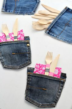 Tutorial: Portaposate di jeans.