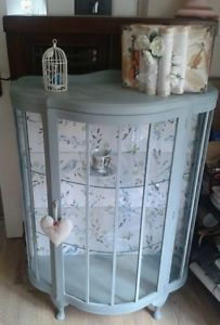 Vintage / antique/shabby chic display cabinet / bookcase / dresser painted in an Upcycled Furniture, Shabby Chic Furniture, Vintage Furniture, Painted Furniture, Diy Furniture, French Furniture, Quality Furniture, Shabby Chic Kitchen, Vintage Shabby Chic