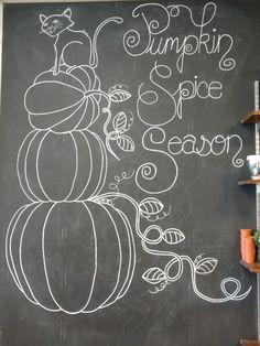 – All For Decoration Chalkboard Doodles, Blackboard Art, Chalkboard Writing, Chalkboard Fonts, Chalkboard Drawings, Chalkboard Designs, Chalk Drawings, Fall Chalkboard Art, Halloween Chalkboard Art