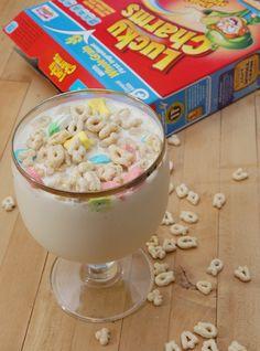 Spiked Lucky Charms Milkshake