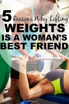 Learn the 5 reasons why lifting weights is a woman's best friend.  #weightlifting #buildyourbody #fitness #bikinibody #bodyboss #womenandweightlifting #healthy #weightlossforwomen #womenworkouts