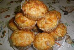 Sajtos - sonkás muffin