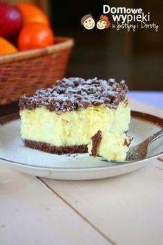 sernik_kokosowy Polish Desserts, Polish Recipes, Cookie Desserts, No Bake Desserts, Cookie Recipes, Cheesecake, Kolaci I Torte, Sandwich Cake, Sweet Pastries