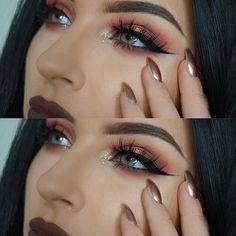 Mink False Eyelashes, Layered Wispy Lashes - Long Party new Pretty Makeup, Love Makeup, Makeup Inspo, Makeup Inspiration, Wispy Lashes, Long Lashes, False Eyelashes, Makeup Goals, Makeup Tips