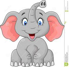 Cartoon Elephant Sitting Stock Vector - Image: 47476413