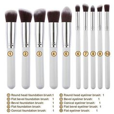 Cheap brushed chrome light switch, Buy Quality brush directly from China tool holder for turning Suppliers: Professional Makeup Brush Sets Tools Cosmetic Brush Foundation Eyeshadow Eyeliner Lip Powder Brush Pinceau Maquillage Contour Makeup, Blush Makeup, Diy Makeup, Makeup Tools, Beauty Makeup, Makeup City, Soft Makeup, Eyeliner Makeup, Contour Brush
