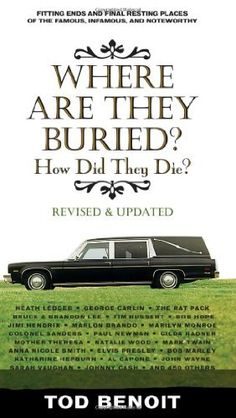 Where Are They Buried (Revised and Updated): How Did They Die? Fitting Ends and Final Resting Places of the Famous, Infamous, and Noteworthy by Tod Benoit, http://www.amazon.com/dp/157912822X/ref=cm_sw_r_pi_dp_4STerb1ET36TF