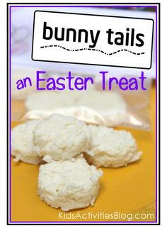 bunny treat - a silly snack your kids can make. White chocolate fudge and a lemon coconut