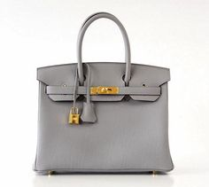 Guaranteed authentic cool and elegant HERMES BIRKIN new color Gris Mouette is a perfect year...