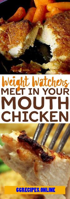 Weight Watcher's Melt In Your Mouth Chicken - One of food Yummy Recipes, Skinny Recipes, Low Carb Recipes, Cooking Recipes, Yummy Food, Healthy Recipes, Recipies, Dinner Recipes, Weight Watcher Dinners
