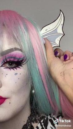 Goth Eye Makeup, Scary Makeup, Clown Makeup, No Eyeliner Makeup, Cool Makeup Looks, Cute Makeup, Simple Makeup, Monster High Cosplay, Monster High Makeup