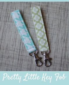Sewing Projects key rings | visit cloverandviolet com