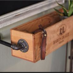 Wine box window box