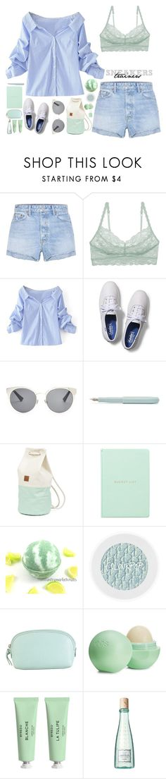 """Sneakers"" by biscuitatlas ❤ liked on Polyvore featuring GRLFRND, Cosabella, WithChic, Keds, Christian Dior, Hadaki, Eos, Byredo, Benefit and Essie"