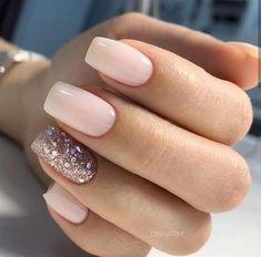 59 Beautiful Nail Art Design To Try This Season - long coffin nails glitter nails mixmatched nail art nail colors mauve nails nail polis nude nails Cute Acrylic Nails, Acrylic Nail Designs, Gel Nails, Nail Polish, Coffin Nails, Toenails, Nail Nail, Nagel Tattoo, Milky Nails