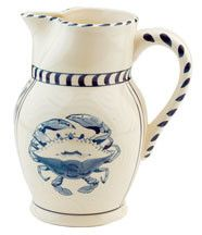 BLUE CRAB BAY CO Large Pitcher $27.99 PICK UP OR SHIPS FREE * BEST PRICE GUARANTEE * www.agnellinos.com