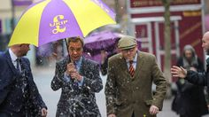 Nigel Farage gets pelted with an egg in spectacular direct hitUKIP leader Paul Nuttall  and former Leader Nigel Farage MEP dodged an egg in Stoke-On-Trent for a public meeting Monday. Image:  Photo by Christopher Furlong/Getty Images  By Sasha Lekach2017-02-06 22:22:22 UTC  Its tough in politics especially if youre aligned with Donald Trump. Former UK Independence Party leader Nigel Farage learnt that the hard way after he was hit with an egg Monday.  The Brexit champion Trump BFF and…
