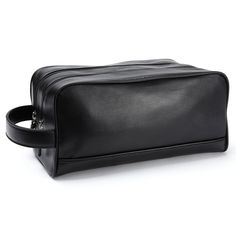 Leatherology Double Zip Toiletry Bag - Full Grain Leather - Black Onyx (black) -- Hurry! Check out this great product(This is an affiliate link and I receive a commission for the sales)
