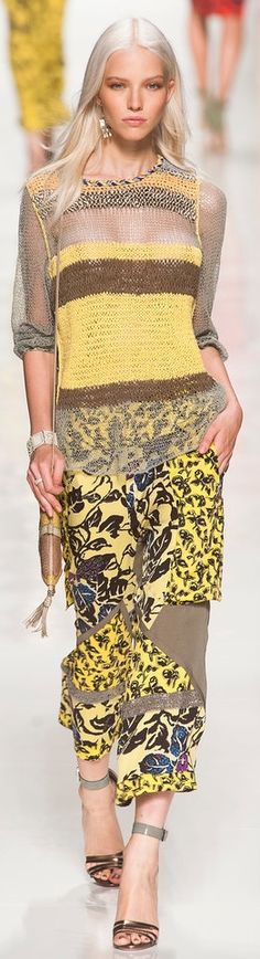 Etro Spring 2014 | The House of Beccaria - Gorgeous, I think, is the word you were looking for... The material? Knitwear, of course.
