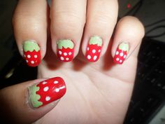 Strawberry by Imdonnamahusay - From Nailsome (http://nailsome.com/)