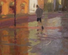 Norman Long 'Reflections, Albert Square' - Oil