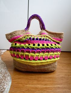 Market shopper crochet bag