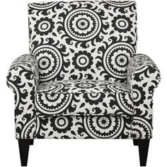 Dana Medallion Rolled Arm Accent Chair - Walmart.com