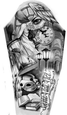 Tattoo Finka Arm Schulter Tattoos - Finale Cover Engel o. Chicano Tattoos Sleeve, Chicano Style Tattoo, Forarm Tattoos, Full Sleeve Tattoos, Body Art Tattoos, Cool Tattoos, Angel Tattoo Designs, Tattoo Sleeve Designs, Tattoo Design Drawings