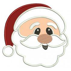 Santa Applique Christmas Machine Embroidery Digitized Design Pattern #christmas #embroidery #applique #santa