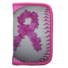 Pink Softball and Awareness Flower Ribbon Planner