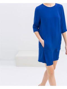 Robe zara bleu p-été 2014
