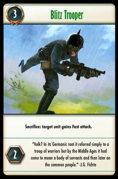 Blitz Trooper Common People, Middle Ages, Troops, Card Games, Battle, The Unit, Magic, Let It Be, Cards