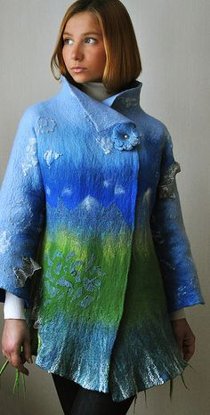 "Hand felted jacket ""El Teide"" by ShellenDesign, via Flickr"