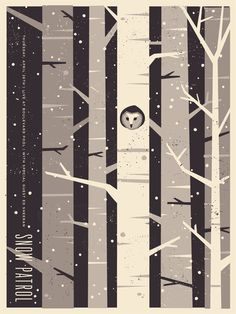 Benjamin Garner / snow patrol poster - such a cute idea.