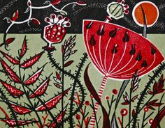 Angie Lewin is a lino print artist, wood engraver, screen printer and painter depicting the UK's natural flora in linocut and other limited edition prints. Natural Form Artists, Linocut Prints, Art Prints, Block Prints, Lino Natural, Natural Forms, Yellena James, Angie Lewin, Motif Floral