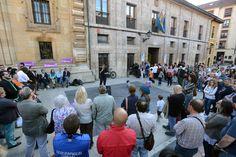 Un momento de la asamblea de Podemos en Oviedo. Foto / Iván Martínez.