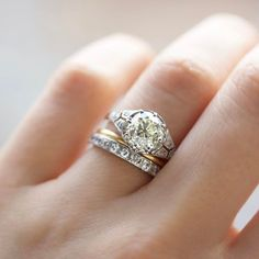 16 best Mixed Metal Wedding Sets images on Pinterest | Rings ...