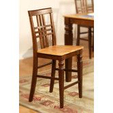 Found it at Wayfair - Logan Counter Height Chairs with Wood Seat   $165.24 for 2