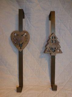 Amazing Van Conversion Christmas Tree Or Heart Rustic Bronze Metal Wreath Door Hanger To Use For Hanging Your