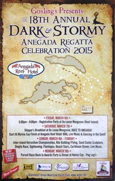 Tonight MARCH 6TH THRU Monday, MARCH 9TH | 18TH ANNUAL DARK & STORMY ANEGADA REGATTA CELEBRATION 2015 #Tortola to #Anegada #BVI #Regatta